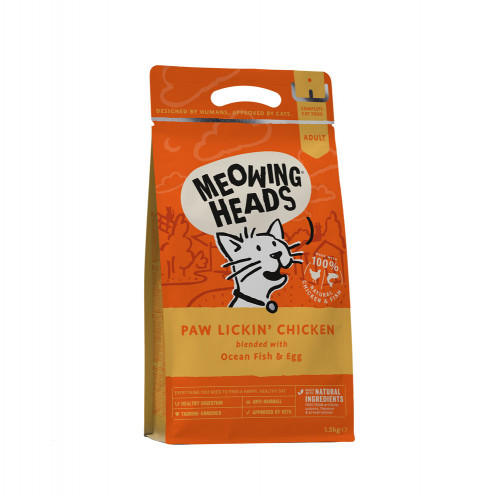 Meowing Heads Paw Lickin' Chicken 1.5kg