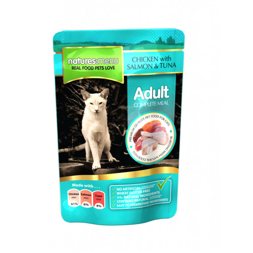 Natures Menu Cat Chicken Salmon & Tuna 100g
