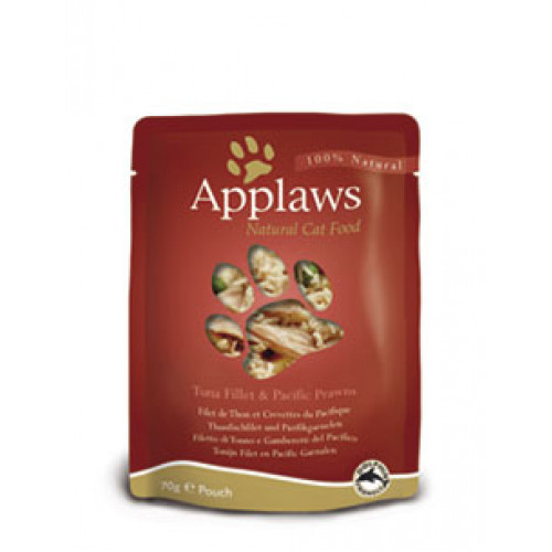 Applaws Tuna Fillet & Pacific Prawns 70g Pouch