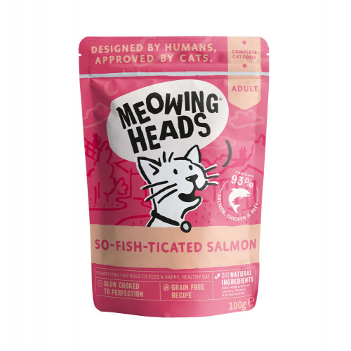 Meowing Heads So-fish-ticated Salmon 100g Pouch