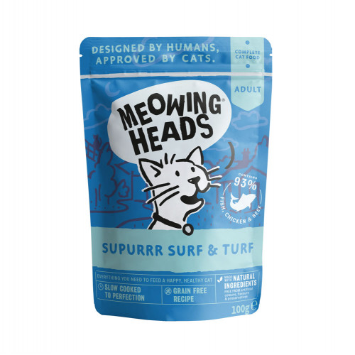 Meowing Heads Supurrr Surf & Turf 100g Pouch