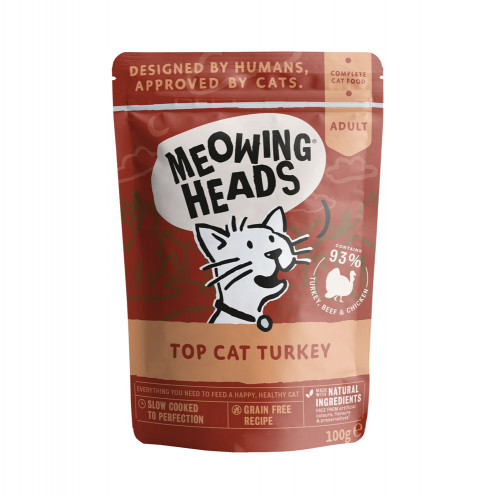 Meowing Heads Top Cat Turkey 100g Pouch