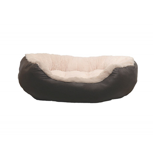 40 Winks Faux Leather Oval Bed 20""