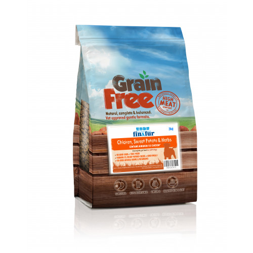 Fin & Fur Grain Free Chicken Sweet Potato & Herbs 6kg