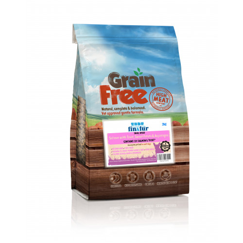 Fin & Fur Grain Free Small Breed Salmon, Trout & Sweet Potato 2kg