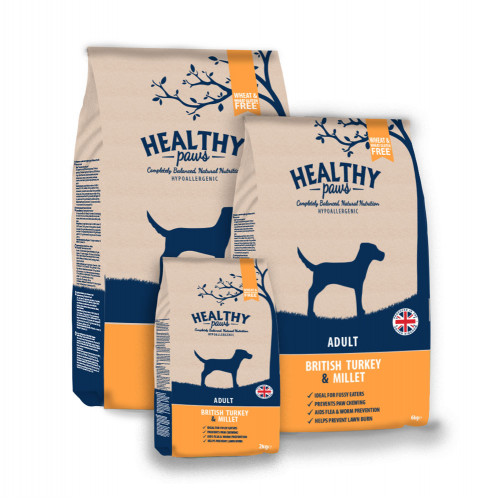 Healthy Paws British Turkey & Millet Adult 6kg