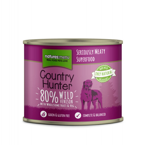 Natures Menu Country Hunter Venison with Blueberries Tin 600g