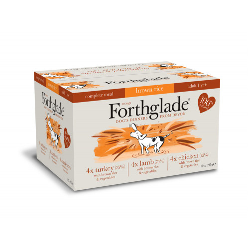 Forthglade Complete Mixed Pack Turkey, Lamb & Chicken X 12