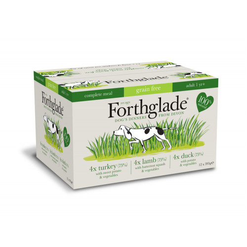 Forthglade Complete Grain Free Mixed Pack Turkey, Duck & Lamb X 12