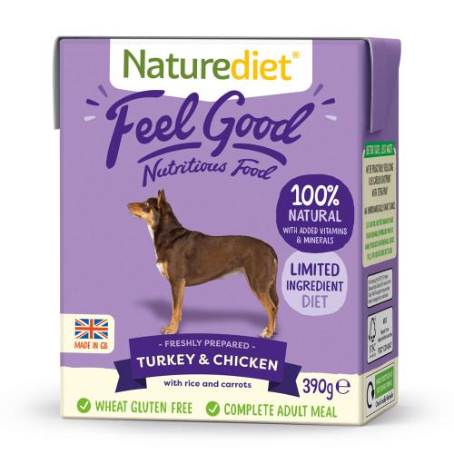 Naturediet Feel Good Turkey & Chicken 390g