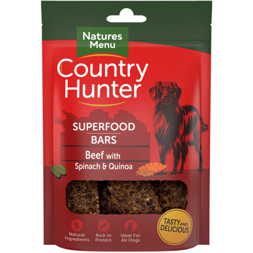 Country Hunter Superfood Bars Beef With Spinach & Quinoa 100g