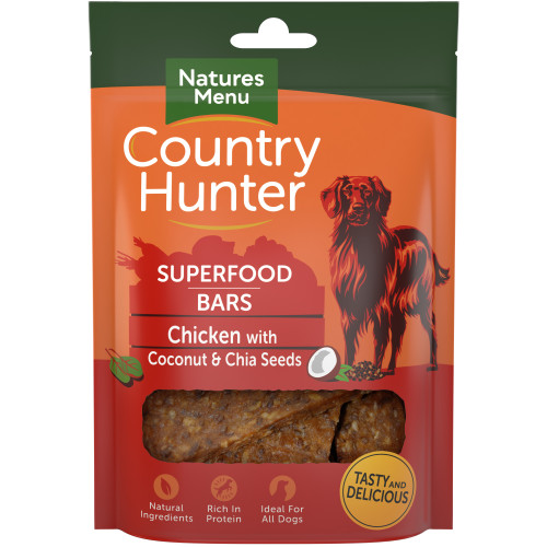 Country Hunter Superfood Bars Chicken With Coconut & Chia Seeds 100g