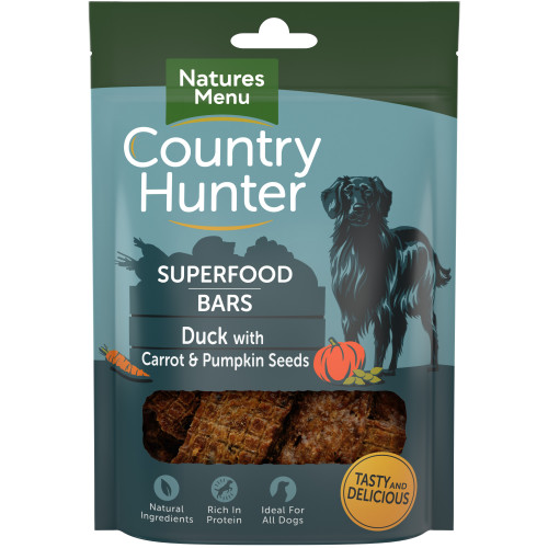 Country Hunter Superfood Bars Duck With Carrot & Pumpkin Seeds 100g