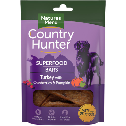Country Hunter Superfood Bars Turkey With Cranberries & Pumpkin 100g