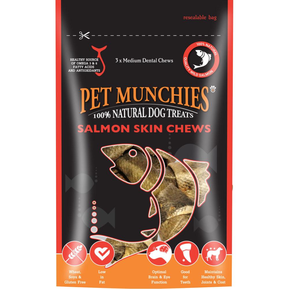 Pet Munchies Salmon Skin Chews Medium Natural Chews For Dogs