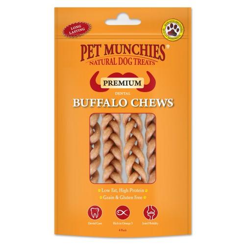 Pet Munchies Dental Buffalo Braid Dog Chew Small (4 Pack) 55g