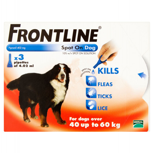 Frontline Spot On For X-Large Dogs (40-60kg) 3 Pipettes